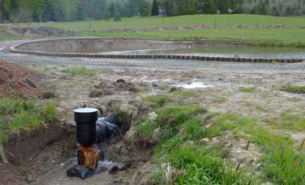 Farm pond siphon overflow pipe pictures to pin on for Pond drain design